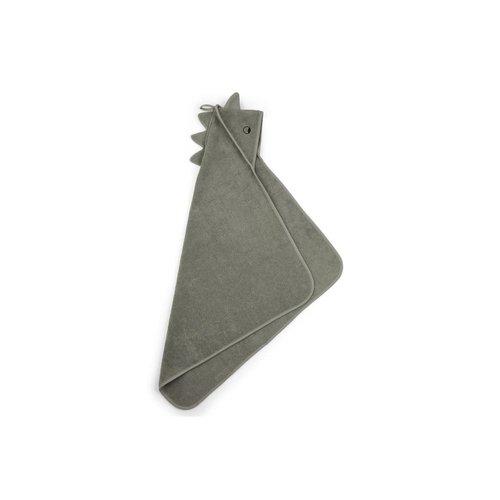 Liewood Liewood | Albert Hooded Towel  | Dino faune green Badcape