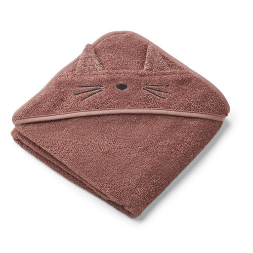 Liewood Liewood | Albert Hooded Towel | Cat dark rose Badcape