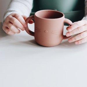 Liewood Liewood | Gene silicone cup | Drinkbeker Cat dark rose