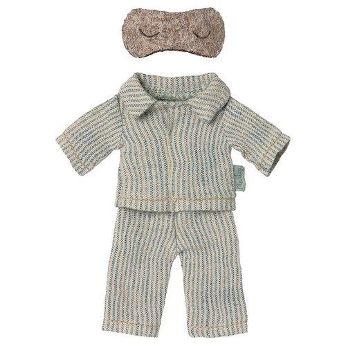 Maileg Maileg | Pyjama met slaapmasker voor papa muis