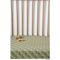 Swedish Linens   Seashells Olive green   40x80 hoeslaken wieg formaat