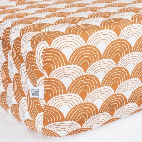 Swedish Linens Swedish Linens | Rainbow Cinnamon brown | 60x120 hoeslaken ledikant formaat