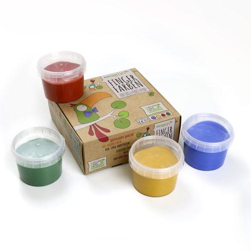 Neogrün Neogrün | Vegan vingerverf | Blauw, geel, rood, groen