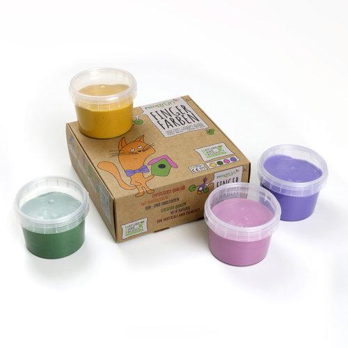 Neogrün Neogrün   Vegan vingerverf Luka  Geel, groen, roze, paars