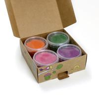 Neogrün | Vegan klei Loki | Oranje, groen, roze, paars
