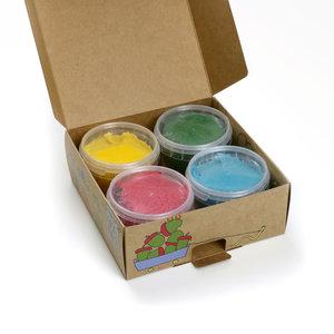 Neogrün Neogrün | Vegan klei Yuki | Geel, groen, rood, blauw