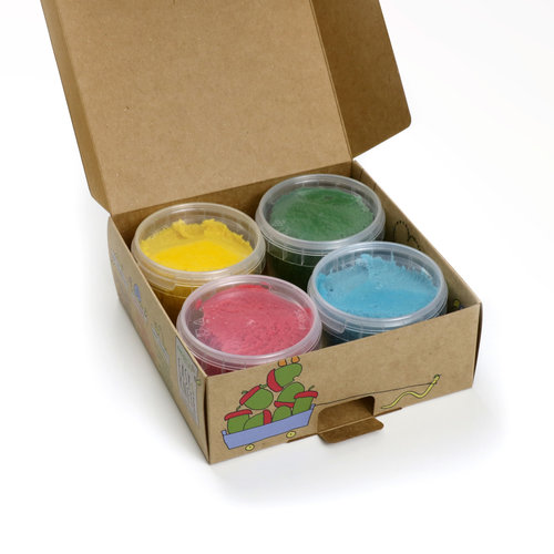Neogrün Neogrün | Vegan klei | Geel, groen, rood, blauw