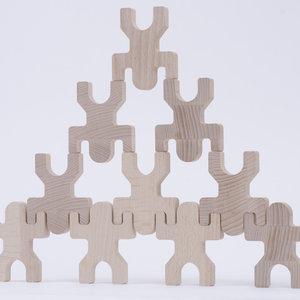 Les Jouets Libres Les Jouets Libres | Tiki | Set van 10 houten poppetjes