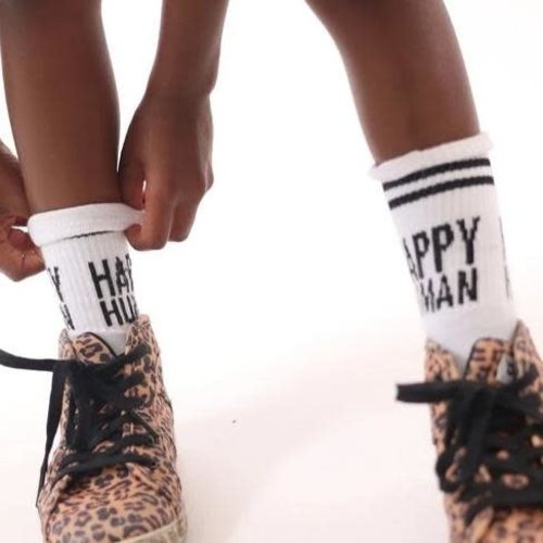 Cos i said so Cos i said so | Happy Human socks | White/black