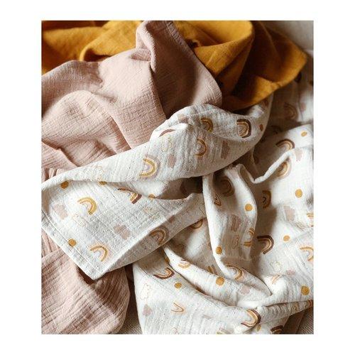 Liewood Liewood | Line muslin cloth Rainbow love | 3 pack hydrofiel swaddles
