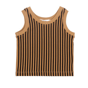 Say Please Say Please | Baby Singlet | Camel gestreept