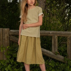 Say Please Say Please | Linnen Midi rok | Khaki
