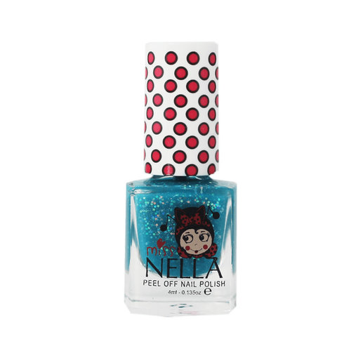 Miss Nella Miss Nella | Nagellak 'Under the Sea' | Blauw met glitter
