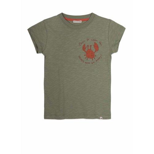 Ammehoela Ammehoela | T-shirt AM.Zoe.10 | Oil green met krab