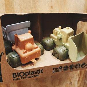 Dantoy Dantoy Bioplastic | Set van twee bouwvoertuigen van suikerriet