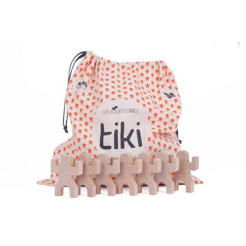 Les Jouets Libres Les Jouets Libres | Tiki | Set van 40 houten speelfiguren