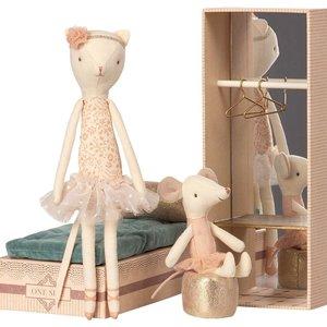 Maileg Maileg | Dancing cat & mouse in shoebox