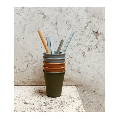 Liewood Liewood | Gertrud Bamboo cups Blue mix | 6 pack bamboe bekers
