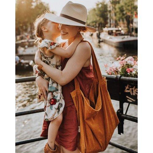 Studio Noos Studio Noos | Orange rib mom-bag