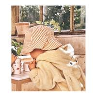 Liewood | Sander bucket hat | Geel wit zonnehoedje