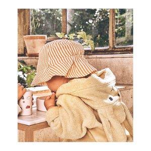 Liewood Liewood | Sander bucket hat | Geel wit zonnehoedje