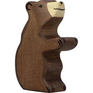 Holztiger Holztiger | Bruine beer | klein zittend