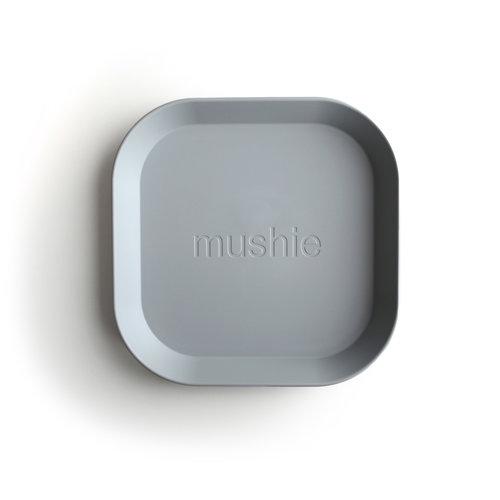 Mushie Mushie | Plates square | Set van 2 borden