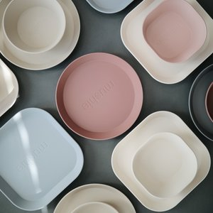 Mushie Mushie | Plates round | Set van 2 borden