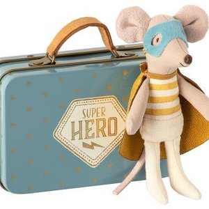 Maileg Maileg | Kleine broer | Superheld muis in koffertje
