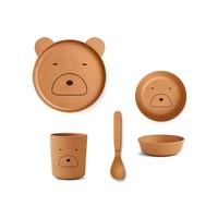Liewood | Bamboo box set | Eetset Mr Bear Mustard