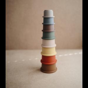 Mushie Mushie | Stacking cups | Stapeltoren Retro