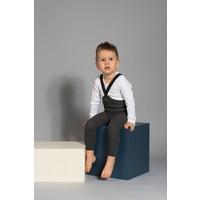Silly Silas | Maillot met bretels zonder voetjes | Donker Grijs