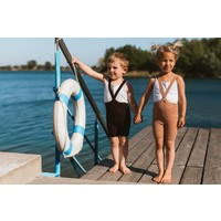Silly Silas | Shorty maillot met bretels | Chocolade bruin
