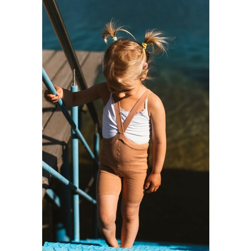Silly Silas Silly Silas | Shorty maillot met bretels | Licht Bruin