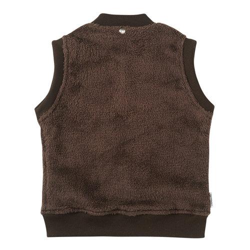 Mingo kids Mingo   Fake Fur Bodywarmer Walnut