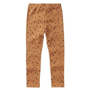 Mingo kids Mingo | Rib Legging Dots Caramel