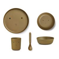 Liewood | Bamboo box set | Eetset Rabbit Olive Green