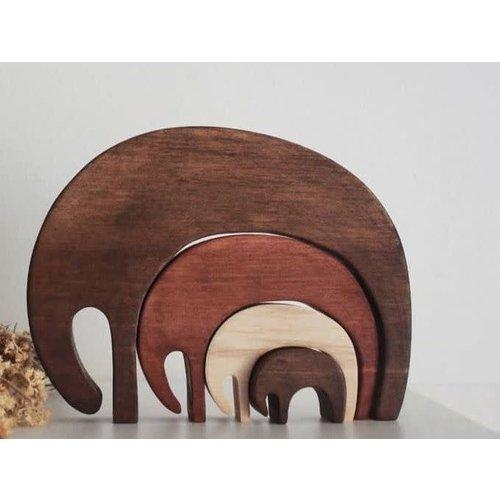 Pinch Toys Pinch Toys | Olifanten puzzel 'Vintage'