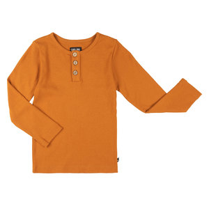 CarlijnQ CarlijnQ | Basics | Longsleeve With 3 Buttons | Orange
