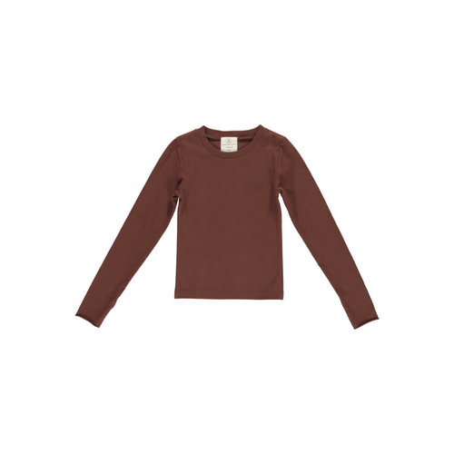 GRO company GRO company | Ole Slim Tee Long Sleeve | Chocolate