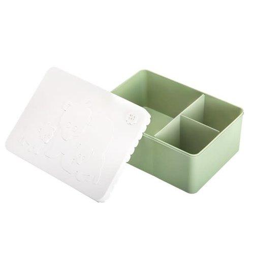 Blafre Blafre | Lunchbox 3 vakjes | Ijsbeer wit + groen