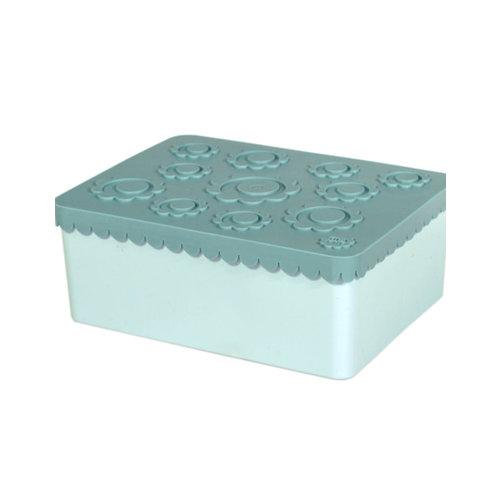 Blafre Blafre | Lunchbox 3 vakjes | Flowers blauw