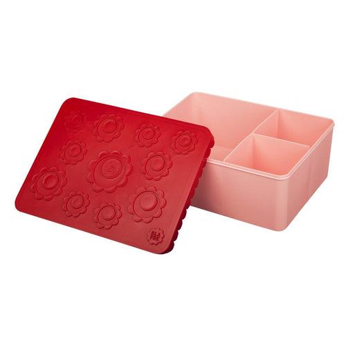Blafre Blafre | Lunchbox 3 vakjes | Flowers rood + roze