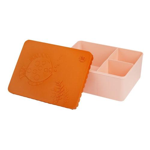 Blafre Blafre | Lunchbox 3 vakjes | Sea Life oranje + roze