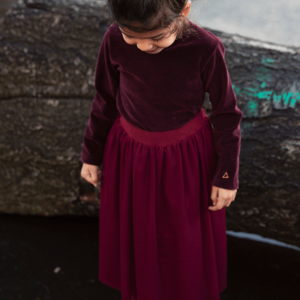 Ammehoela Ammehoela | AM.Sofie.07 | Velvet plum longsleeve