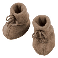 Engel Natur | Baby booties | Slofjes wol | Walnoot