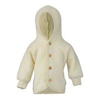 Engel Natur | Hooded Jacket | Baby jasje wol | Naturel