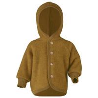 Engel Natur | Hooded Jacket | Baby jasje wol | Saffron melange oker