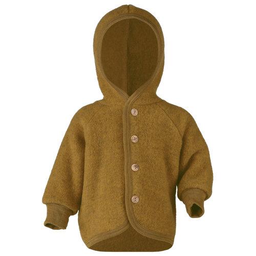 Engel Natur Engel Natur | Hooded Jacket | Baby jasje wol | Saffron melange oker
