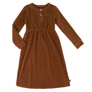 CarlijnQ CarlijnQ | 2 button dress | Corduroy brown
